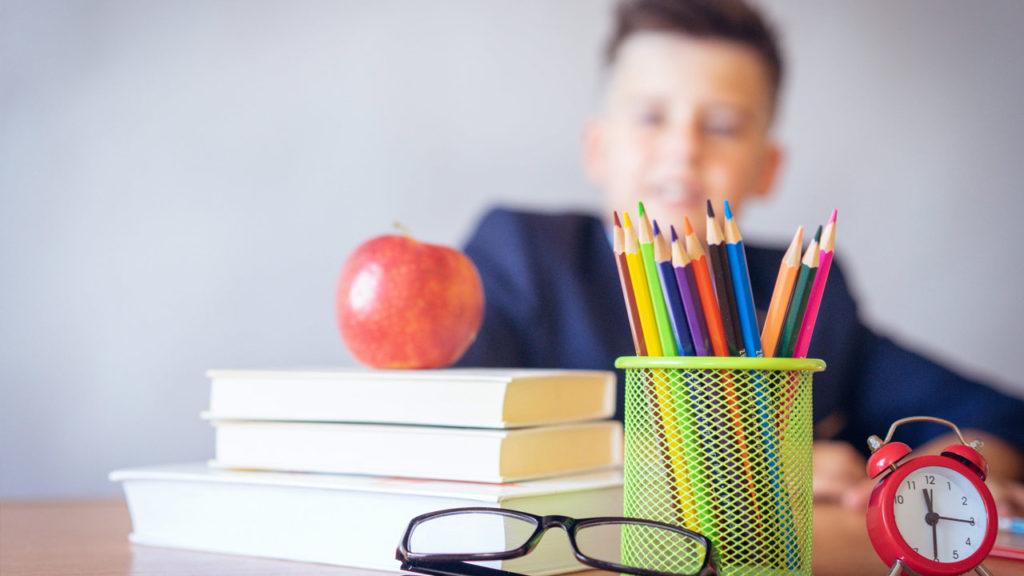 School Boy with pencils